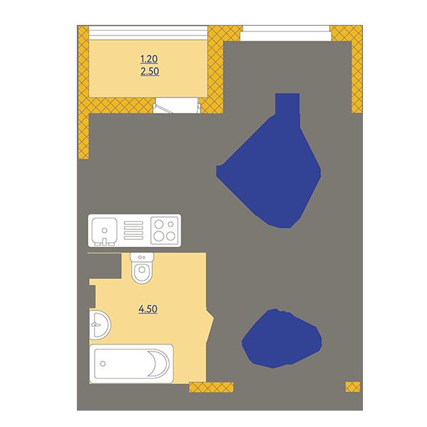 Планировки 1 очередь (корпус 1, 2)