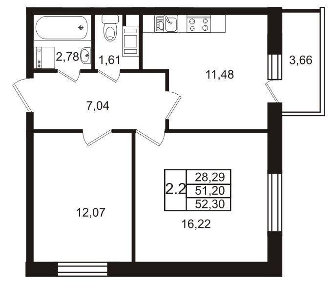 Планировки 2 очередь - дом 2