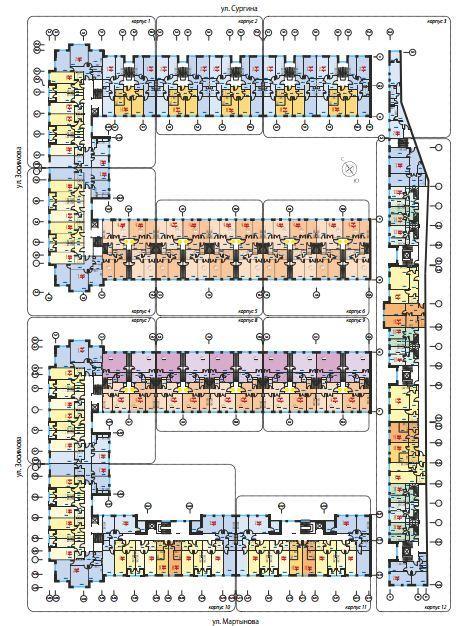 Планировки корпус 1-12